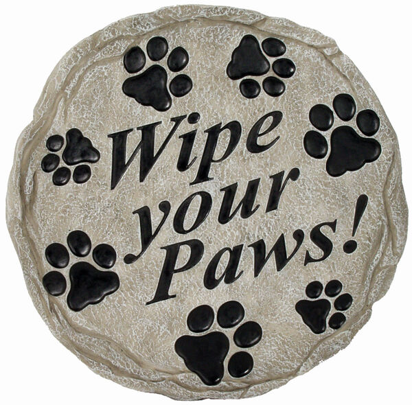 Wipe Your Paws Stone