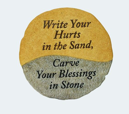 Write Your Hurts in the Sand Stone